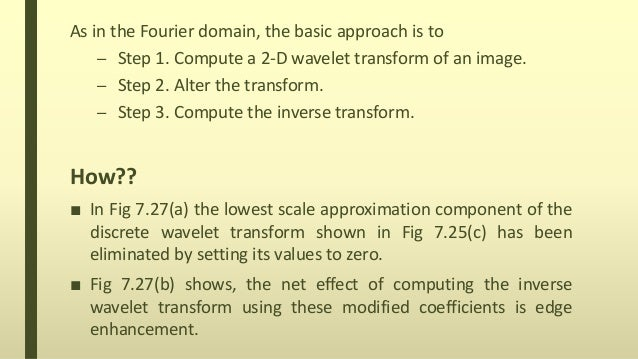 Wavelet transform in two dimensions