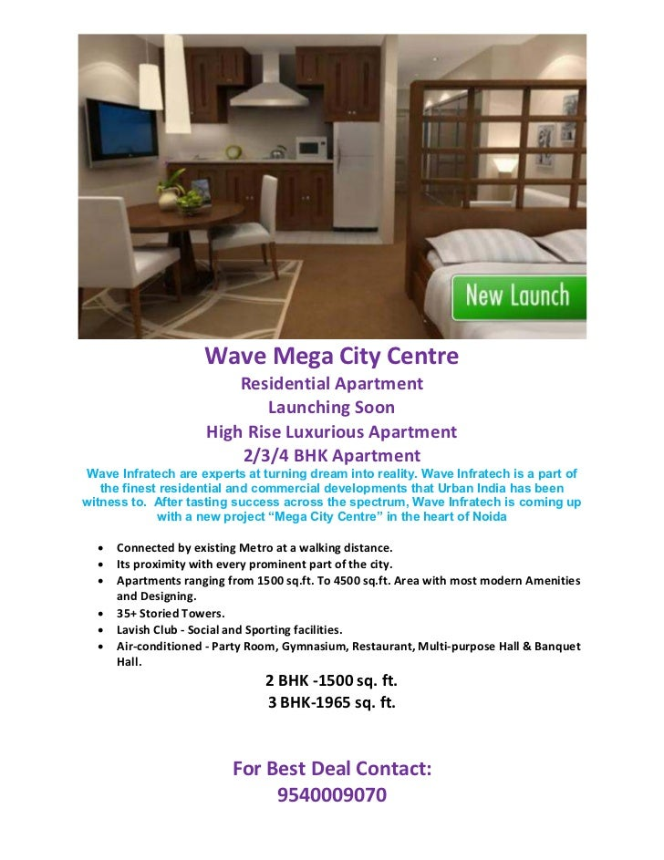 Wave Mega City Centre                         Residential Apartment                             Launching Soon            ...