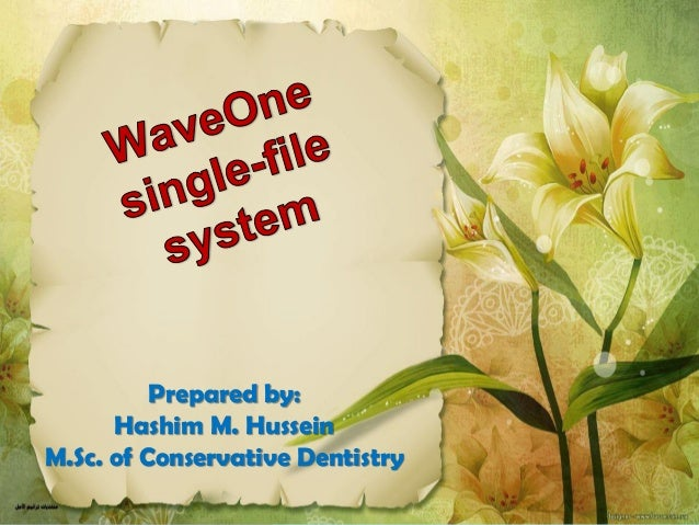 Prepared by: Hashim M. Hussein M.Sc. of Conservative Dentistry