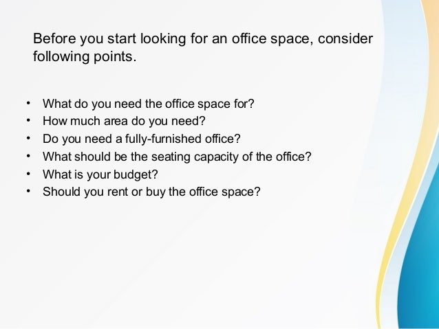 A Brief On How To Find The Best Office Space In Your City