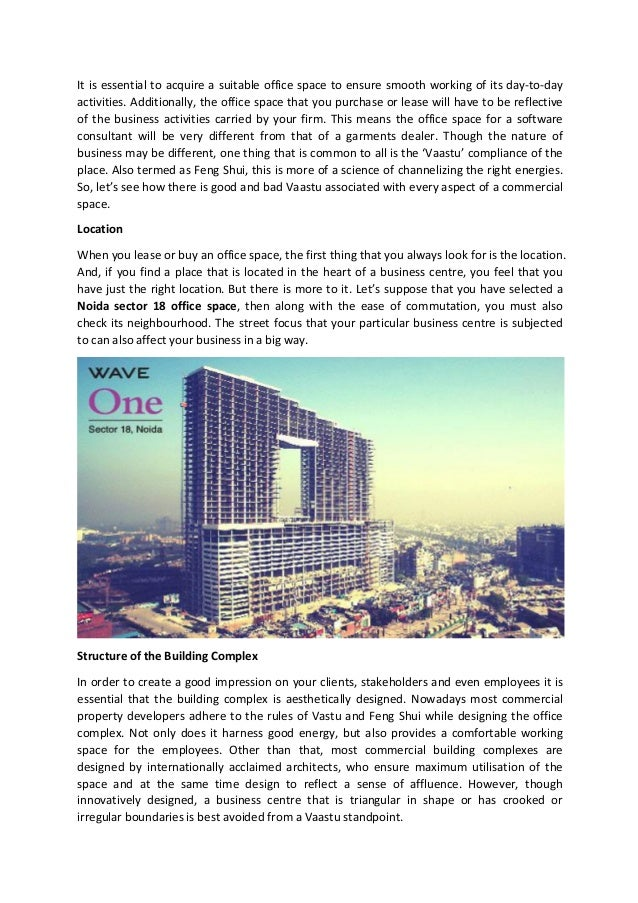 guidelines to purchasing a vaastu compliant office space in an indust