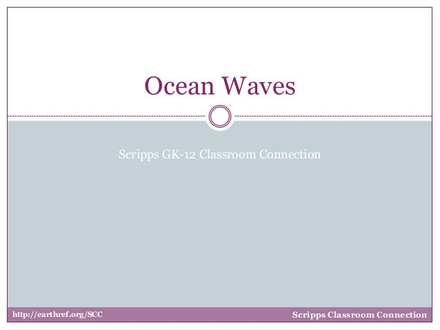 Ocean Waves Scripps GK-12 Classroom Connection  http://earthref.org/SCC  Scripps Classroom Connection