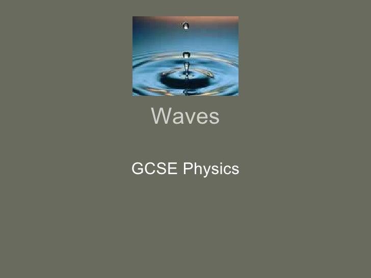 Waves GCSE Physics