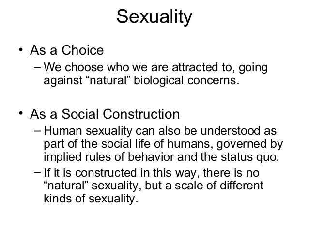 Socially constructed sexuality