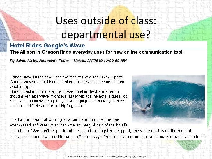 Innovative Use Of Classroom : Waves of innovation using google wave in the esl classroom