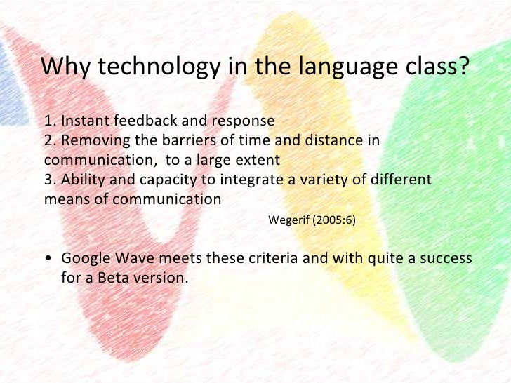Innovative Classroom Practices Using Ict In England : Waves of innovation using google wave in the esl classroom