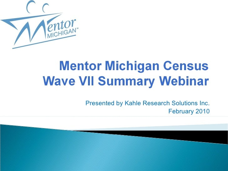 Presented by Kahle Research Solutions Inc. February 2010