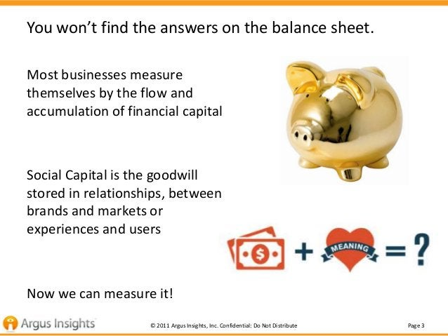 You won't find the answers on the balance sheet.Most businesses measurethemselves by the flow andaccumulation of financial...