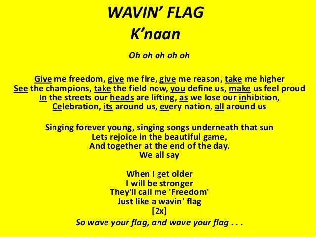 k naan waving flag текст