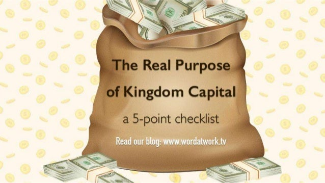 How to use Capital for the Right Purposes: a 5-point checklist