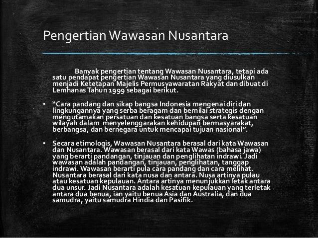 Wawasan Nusantara Dalam Konteks Nkri
