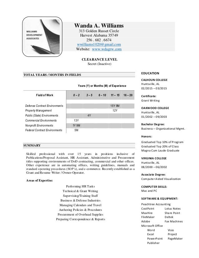 WA Williams 072716 Resume GN