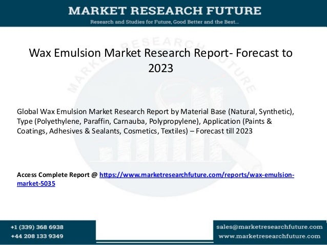 Wax Emulsion Market 2018–Share, Growth, Key Players Analysis