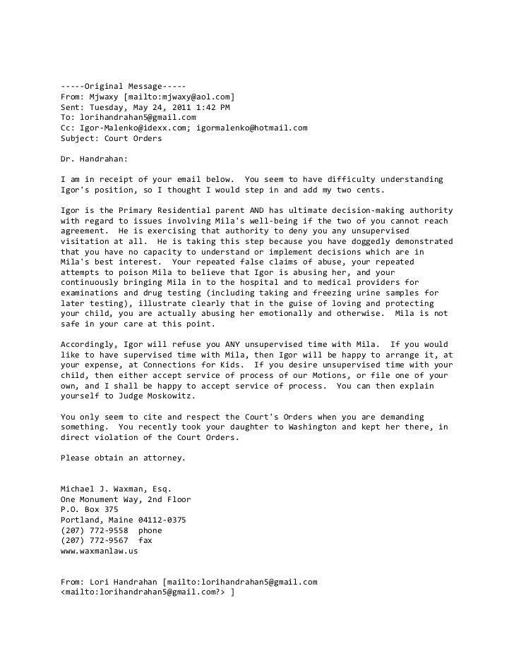 -----Original Message-----From: Mjwaxy [mailto:mjwaxy@aol.com]Sent: Tuesday, May 24, 2011 1:42 PMTo: lorihandrahan5@gmail....