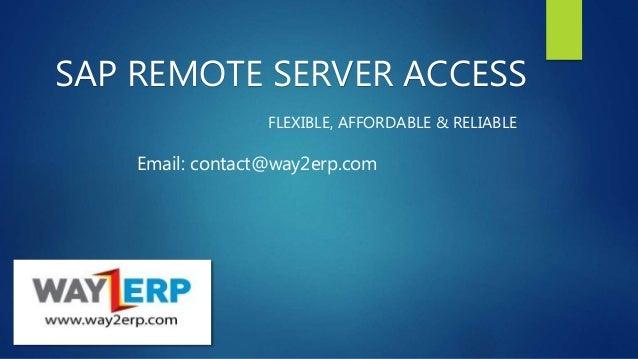 Way2ERP Remote Access