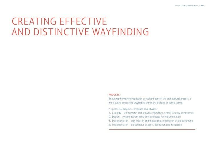 EFFECTIVE WAYFINDING | .02     CREATING EFFECTIVE AND DISTINCTIVE WAYFINDING                       PROCESS                ...
