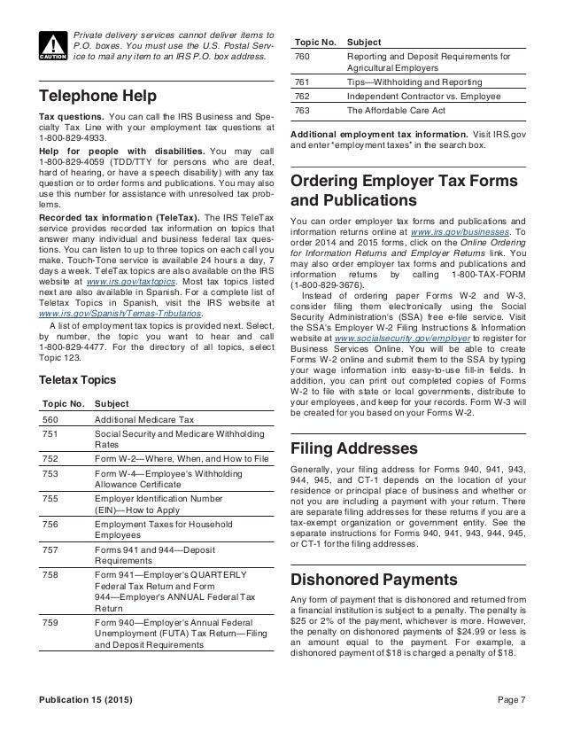 Wayne Lippman Irs Tax Publication 15