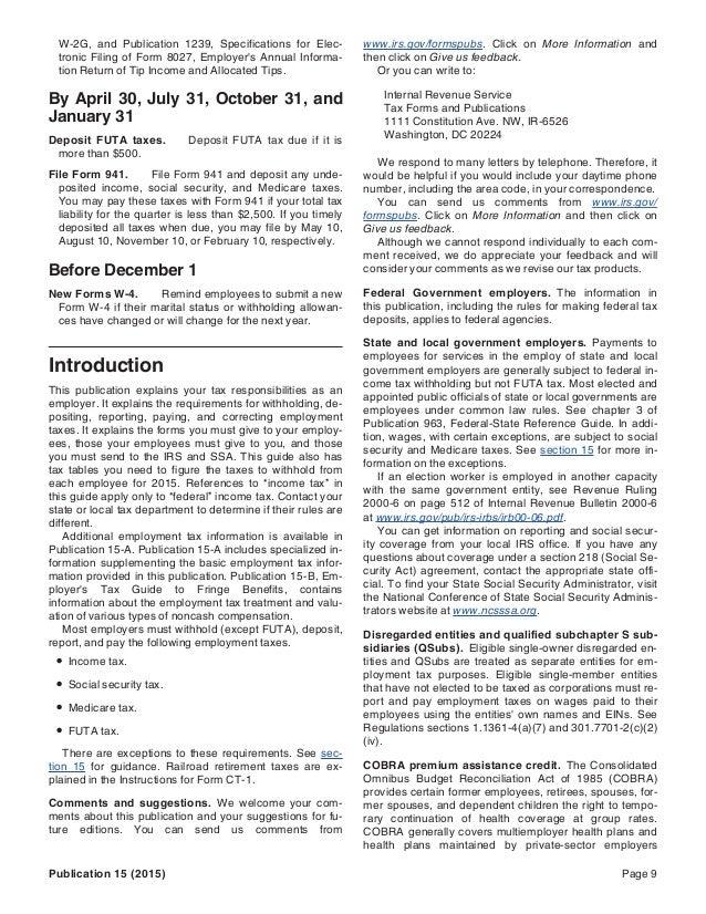 Wayne Lippman - IRS Tax Publication 15