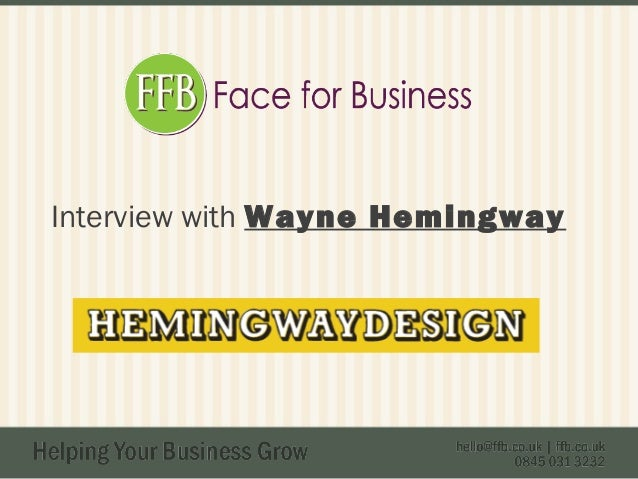 Interview with Wayne Hemingway
