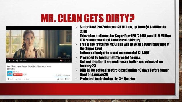 mr clean super bowl 2017 commercial