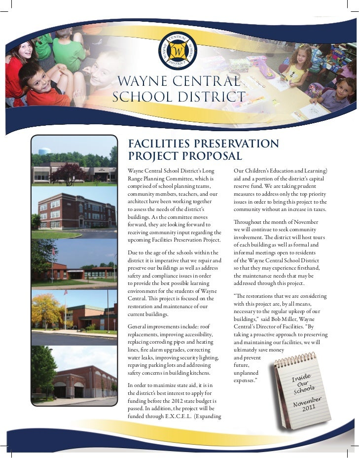 Wayne Centr alSChool DiStriCt Facilities Preservation Project ProPosal Wayne Central School District's Long           Our ...