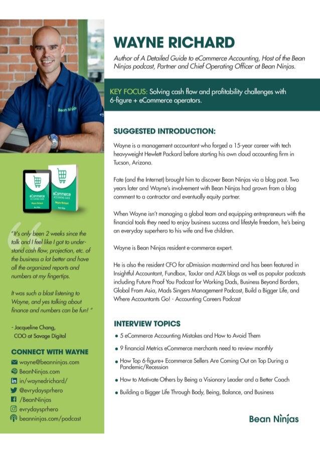 Wayne Richard 1-page Speaker bio