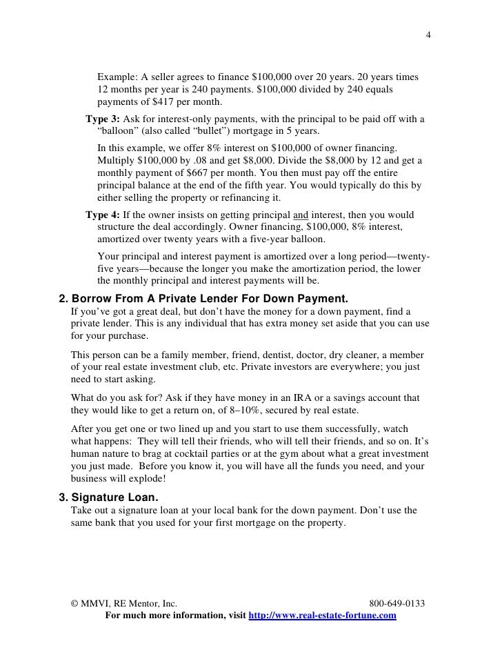 27 ways to buy multi family properties with no money down by dave lin 4 4 example a seller agrees to finance pronofoot35fo Choice Image