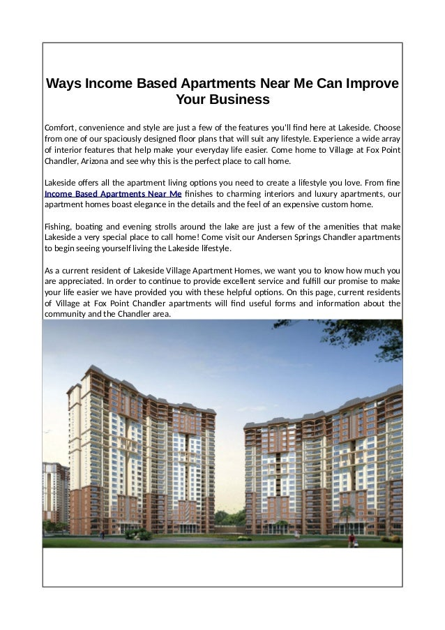 Ways Income Based Apartments Near Me Can Improve Your Business
