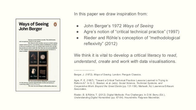 Ways of Seeing Data: Towards a Critical Literacy for Data Visualisations as Research Objects and Devices Slide 2