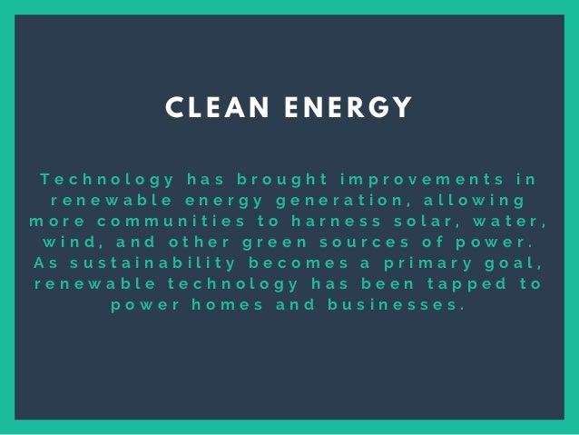 Ways Technology Contributes to Sustainability Slide 3