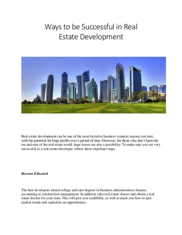 How to be Successful in Real Estate Development by Roman Temkin
