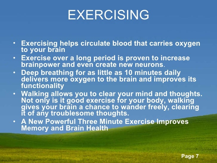 Image result for exercising delivers oxygen to the brain