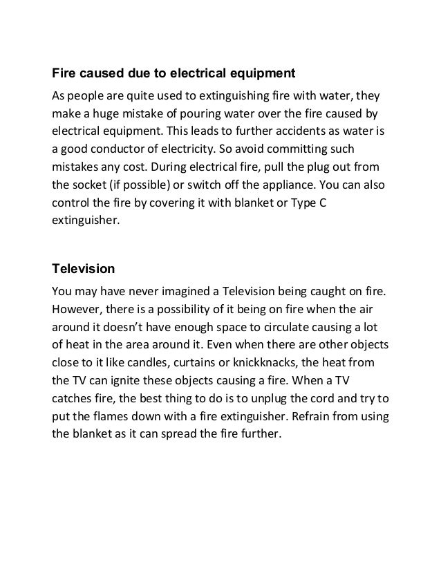 Ways to Extinguish Different Types of Small Fire Slide 3