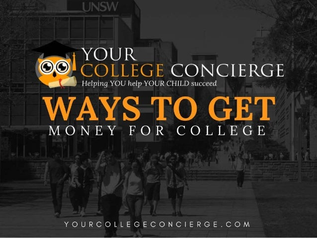 Multiple Ways You Can Get Money For College