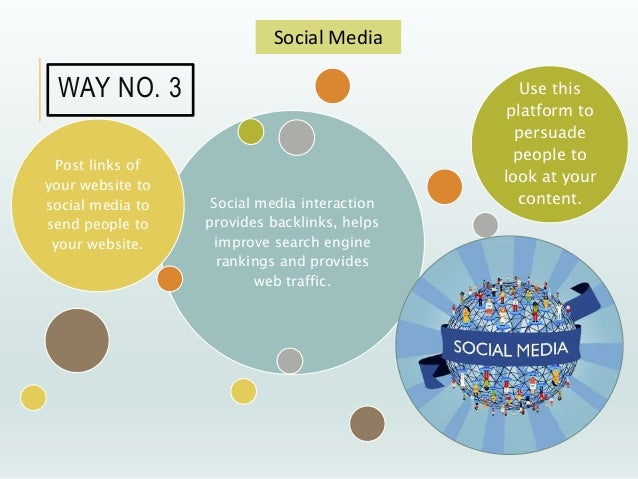 Social media interaction provides backlinks, helps improve search engine rankings and provides web traffic. Post links of ...