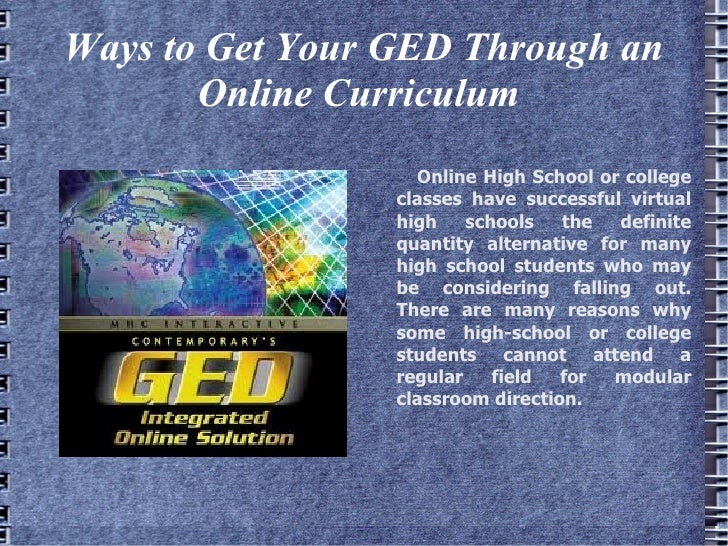 Get Your Ged Online >> Ways To Get Your Ged Through An Online