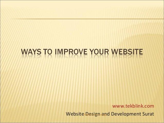 www.tekblink.com WebsiteTekblink Technology Development Surat Design and