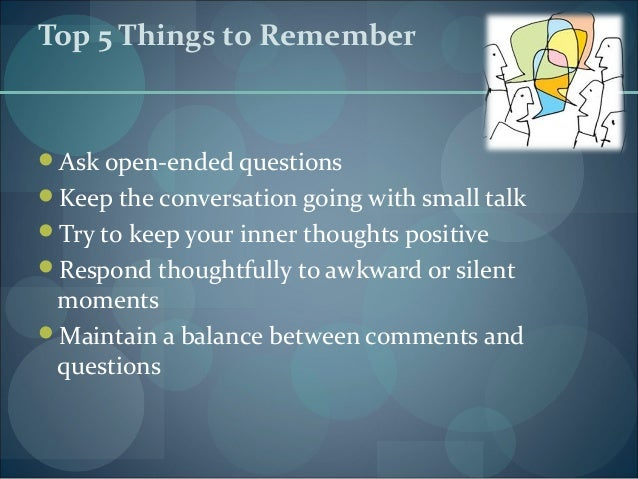 Tips to keep a conversation going