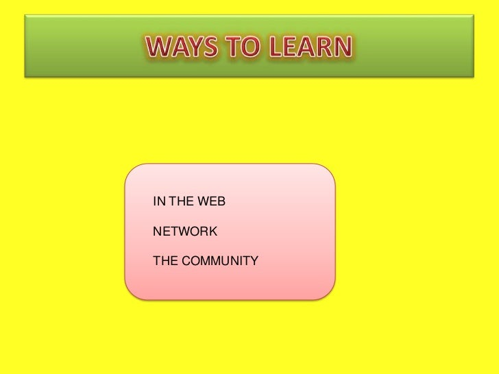 IN THE WEBNETWORKTHE COMMUNITY