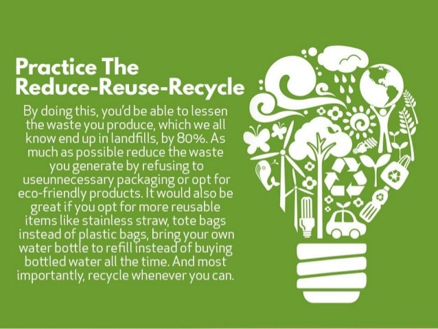 Ways to live an eco friendly lifestyle Slide 2