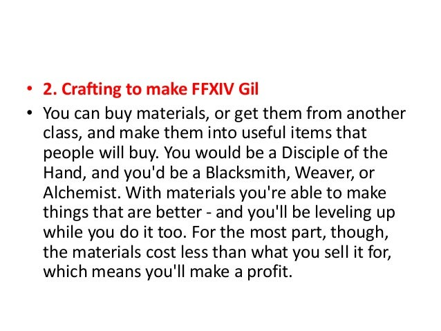 Ffxiv How To Get Crafting Materials