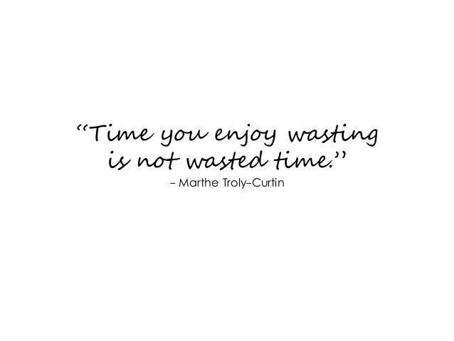 Time You Enjoy Wasting Is