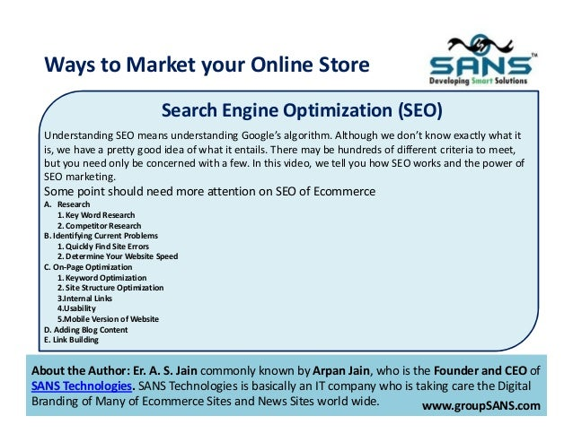 how to market your ecommerce store