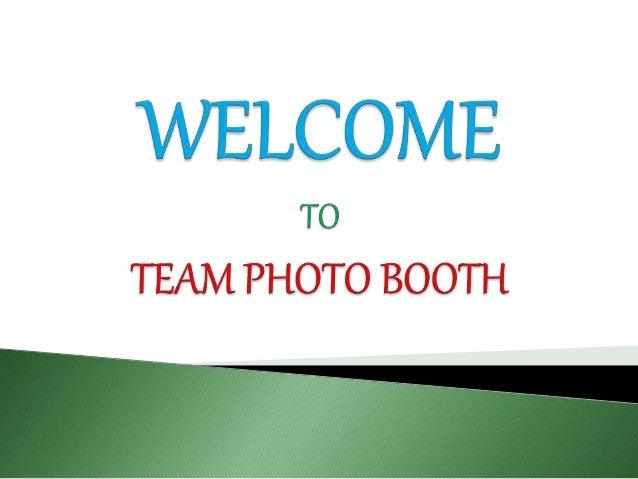 Team Photo Booth