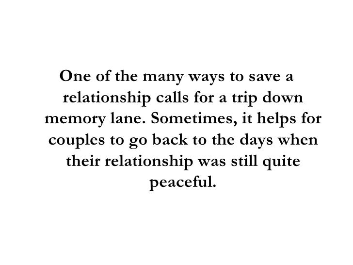 ways to save a relationship