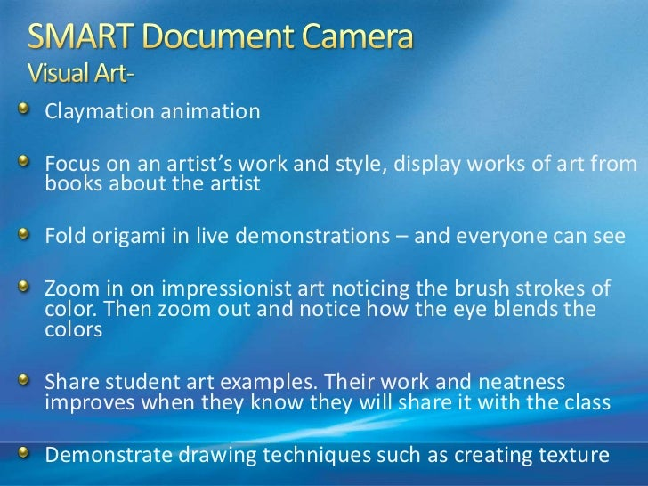 Ways To Use The SMART Document Camera