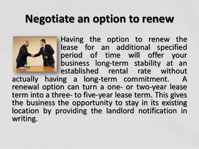 ways to win a more favorable lease finished
