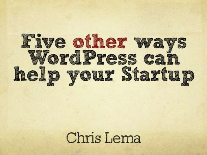 WordPress for StartUps