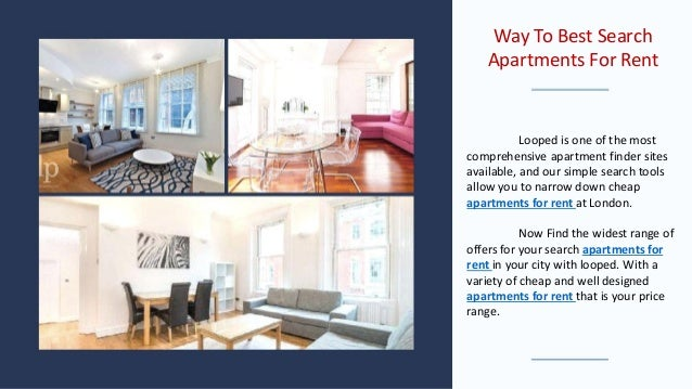 Way to best search apartments for rent