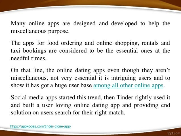 Open line for online dating